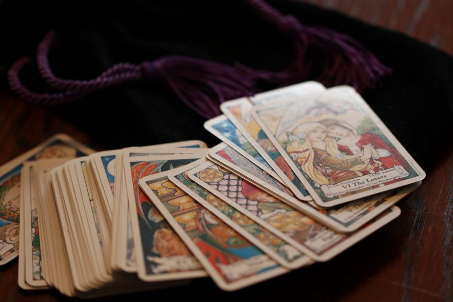 Tarot cards on a table